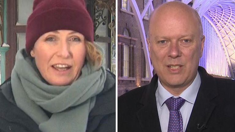 Sky's Jayne Secker asks the Transport Secretary Chris Grayling why the UK appears to grind to a halt during the current weather