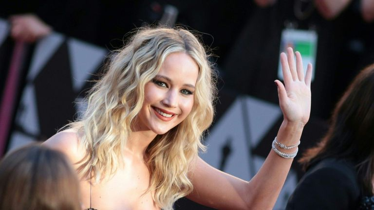 Actress Jennifer Lawrence arrives for the 90th Annual Academy Awards on March 4, 2018, in Hollywood, California