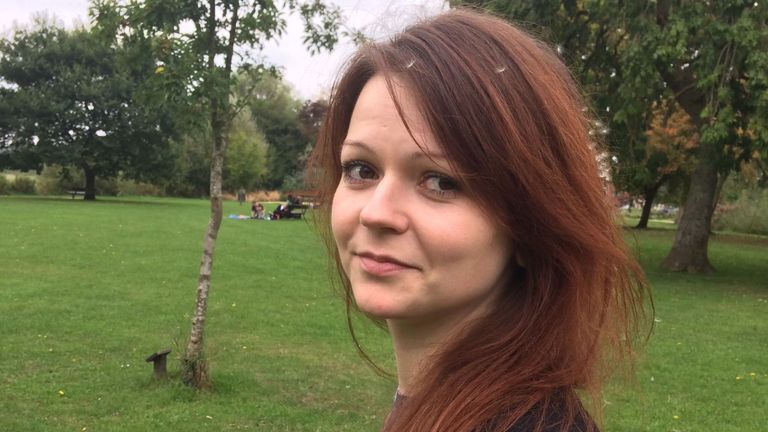 Yulia Skripal is no longer in a critical condition