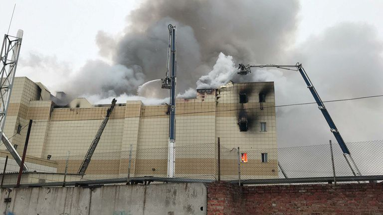 More than 30 people have been killed in a fire at a shopping mall in Kemerovo