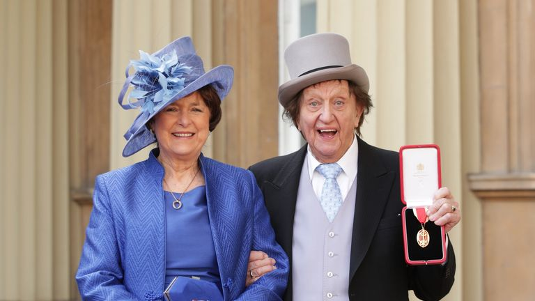 Sir Ken with Anne Jones at Buckingham Palace
