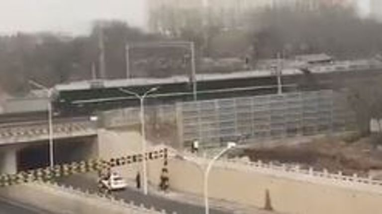 This diplomatic train, reported to be carrying Kim Jong Un, was spotted racing into Beijing