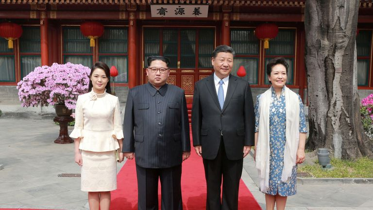 Social media users said Ri Sol Ju's outfits were more fashionable than Pen Liyuan's