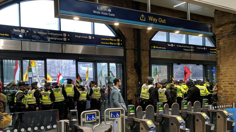 Police have closed King's Cross station. Pic: Louise Acheson