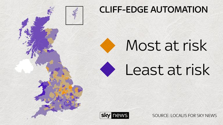 The parts of Britain most at risk
