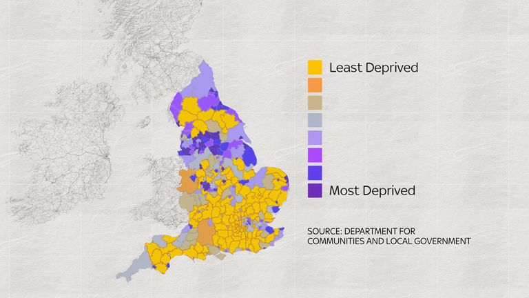Many of England's most deprived areas are in the North West
