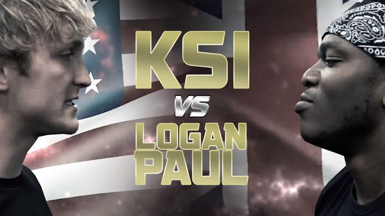 The two popular YouTubers will fight in August. Pic: YouTube/KSI