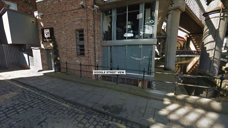 A man was attacked with a machete in Manchester