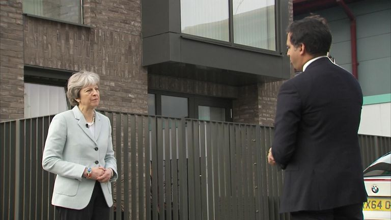 Theresa May talks to Faisal Islam about housing and wealth inequality in the UK