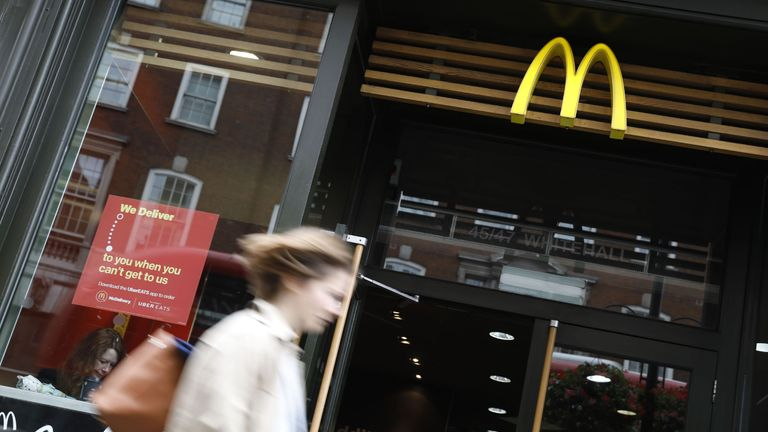McDonald's has changed the look of its restaurants and started offering deliveries
