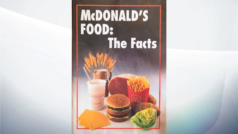 The 1989 leaflet shows sugar and salt content in some McDonald's products has doubled in 30 years