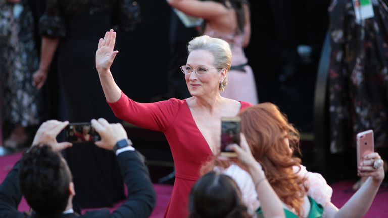 Meryl Streep arrives for the 90th Annual Academy Awards on March 4, 2018, in Hollywood, California