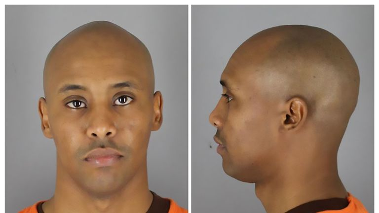 Minneapolis officer Mohamed Noor. Pic: AFP / Hennepin County Sheriff's Office