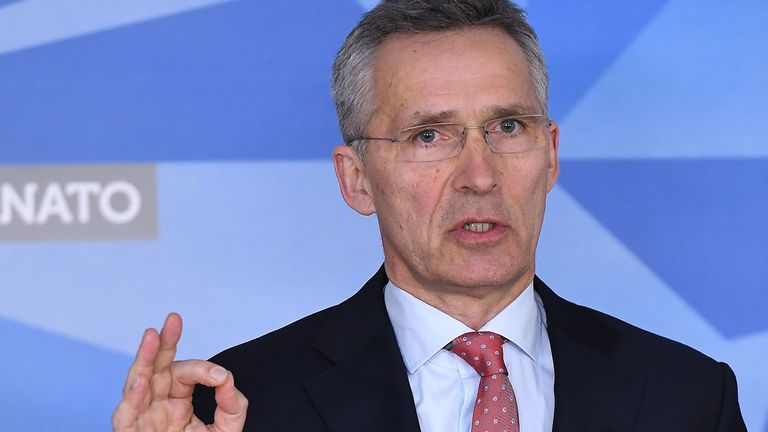 Jens Stoltenberg said Russia's behaviour was 'unacceptable'
