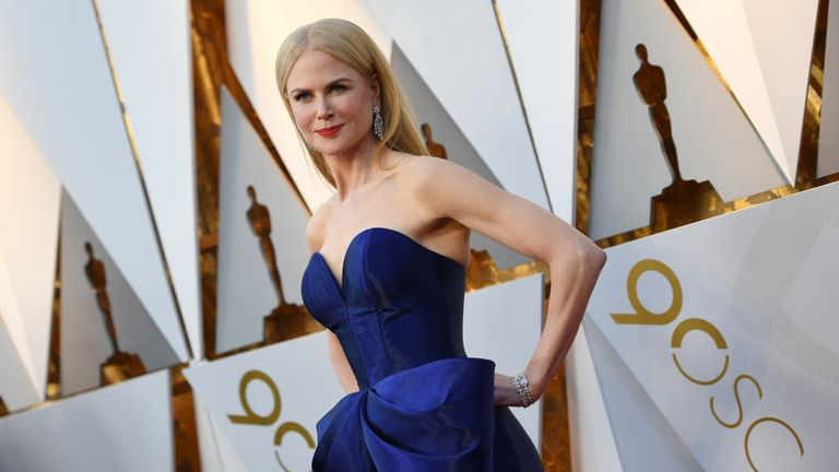 Actress Nicole Kidman arrives for the 90th Annual Academy Awards on March 4, 2018, in Hollywood, California