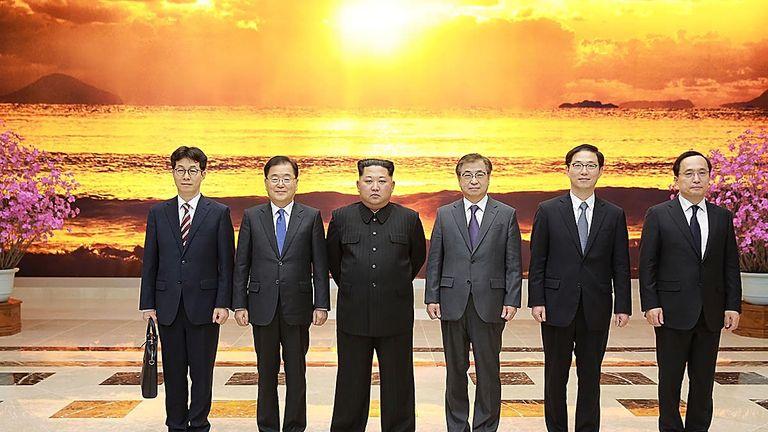 The South Korean diplomats met Kim Jong Un in Pyongyang