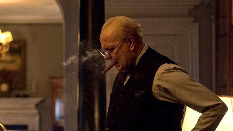 Gary Oldman playing Winston Churchill in Darkest Hour