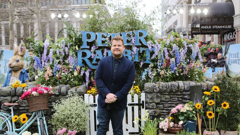 James Corden at the premiere of Peter Rabbit