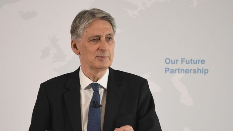 Chancellor Philip Hammond delivers his keynote Brexit speech