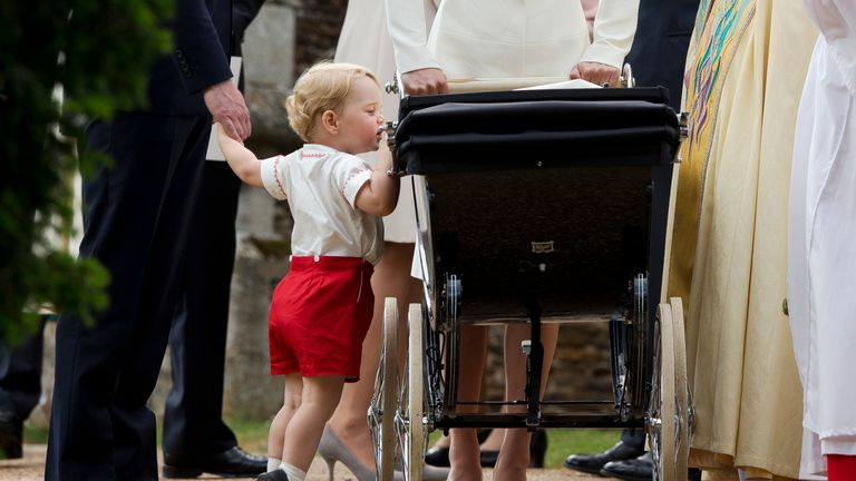 Prince George will wear shorts until he is eight years old