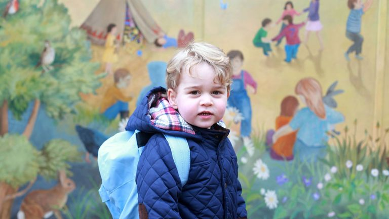 George as he started nursery