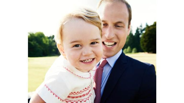 Prince George's photograph for his second birthday