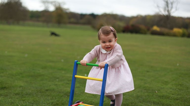 Princess Charlotte, before her first birthday