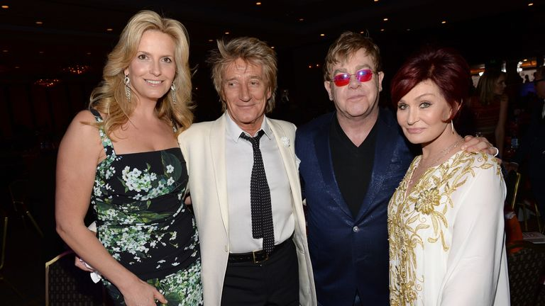 Rod Stewart and Elton John in 2013