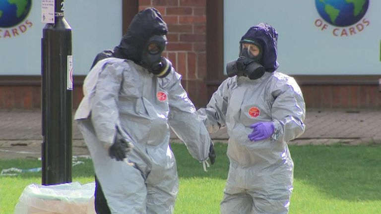 "A woman who heckled Prime Minister Theresa May during her visit to Salisbury this week has told Sky News ""people want to see the evidence"" behind the nerve agent attack. - sky package"