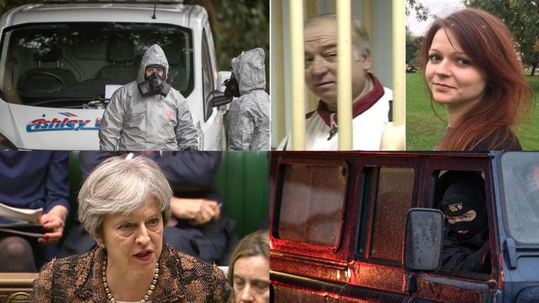 Investigations continue in Sainsburys, Salisbury and Winterslow as PM confirms Russian nerve agent used