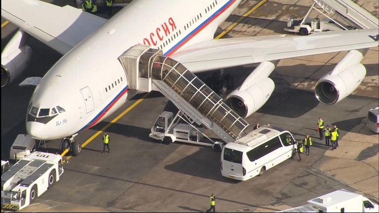 Russian diplomats at Stansted airport