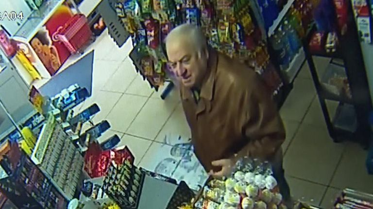 Russian spy caught on CCTV in Salisbury