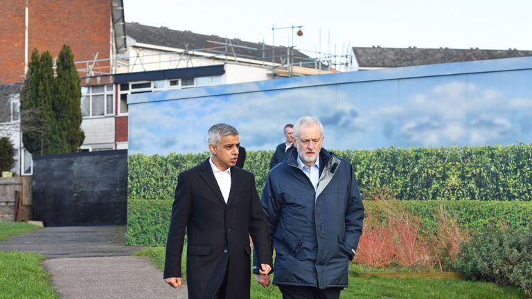 Jeremy Corbyn and Sadiq Khan in Barnet to launch the Mayor of London's Estate Regeneration strategy