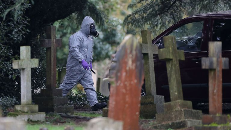 My Skripal's wife is buried at the cemetery and his son's memorial is also there