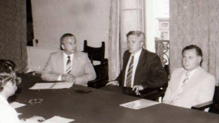 Sergei Skripal (L) in Malta
