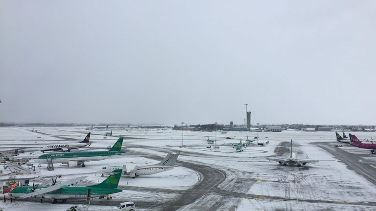 Dublin Airport has effectively been closed. Pic: DublinAirport