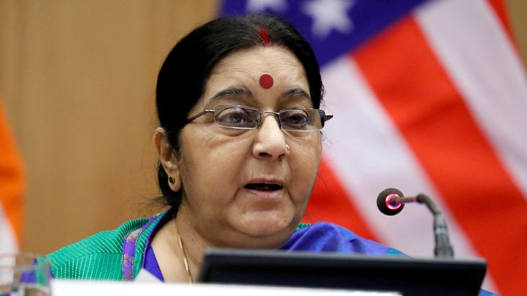 Indian foreign minister Sushma Swaraj told parliament the 39 IS hostages had been found in a mass grave