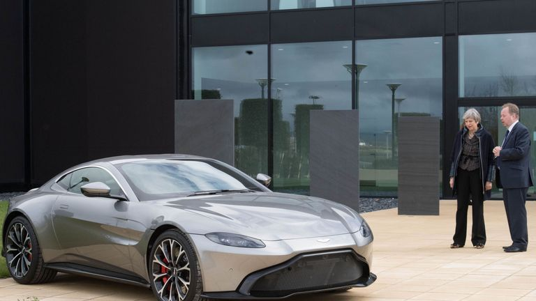 The Prime Minister visited the Aston Martin Factory in Wales