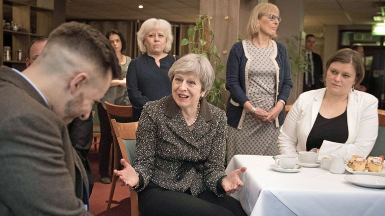 The PM visited the Polish community in west London