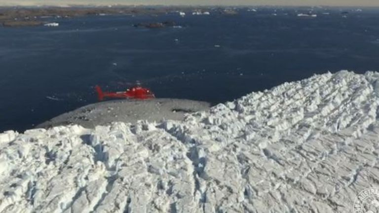 The sea levels could rise by 3m. Pic: Australian Antarctic Division