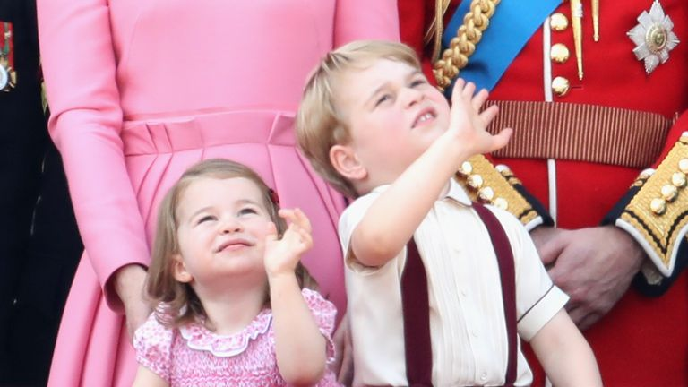 Princess Charlotte in pink at the 2017 Trooping the Colour