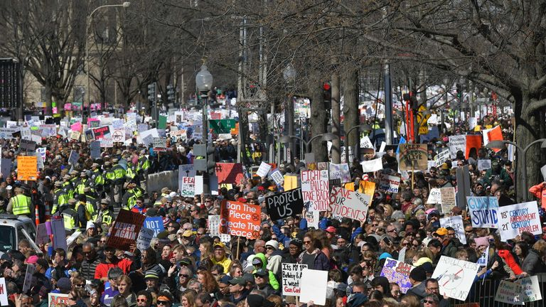 Hundreds of thousands marched on Washington, DC