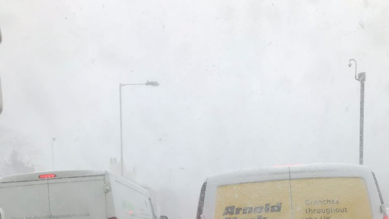 Driving conditions were treacherous during Gerry's journey. Pic: Gerry Pixsley