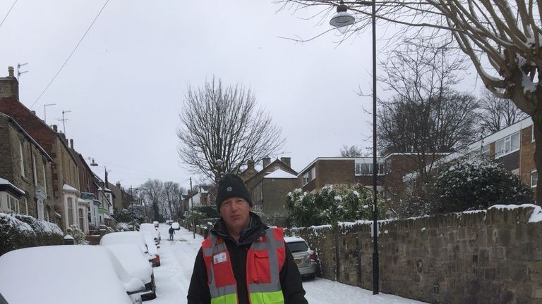 Gerry Pixsley walked a mile in the snow and drove for hours to deliver an urgently needed breast milk donation. Pic: Gerry Pixsley