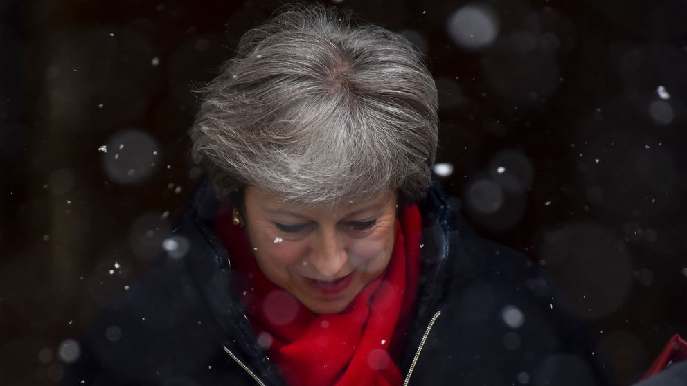 May vows to work with European Union  to avoid hard Irish Border
