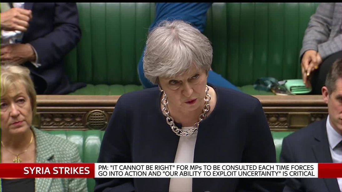 May accused of 'flagrant disregard' over Syria strikes