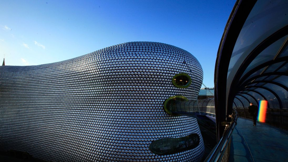The Selfridges store at Birmingham's Bullring Shopping Centre