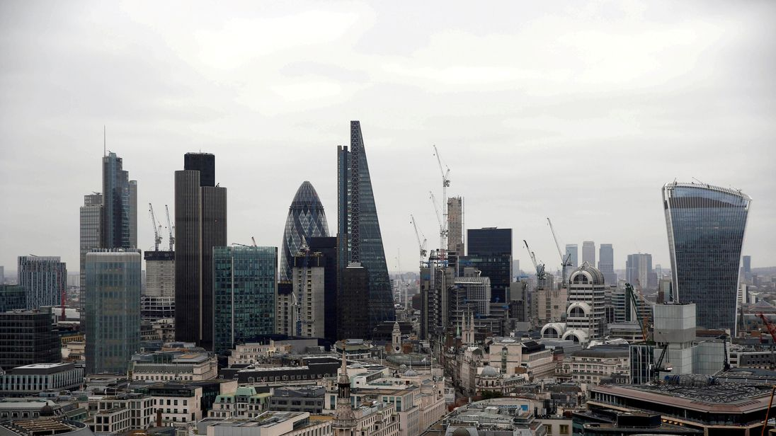A view of the London skyline shows the City of London financial district, seen from St Paul's Cathedral in London, Britain February 25, 2017