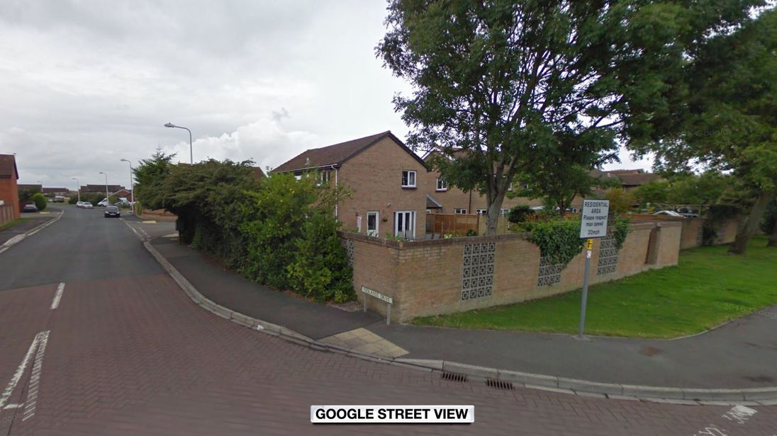The car crashed into a home on Yeolands Drive, Clevedon. Pic: Google Street View