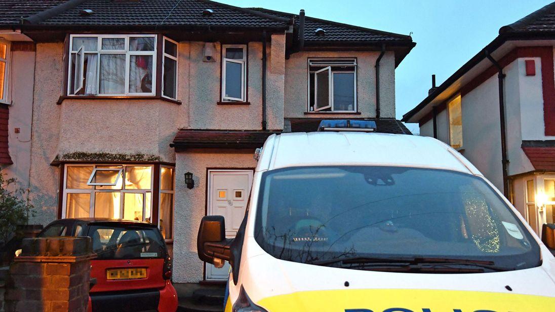 House in Edgware, north London where two men suspected of dying of carbon monoxide poisoning